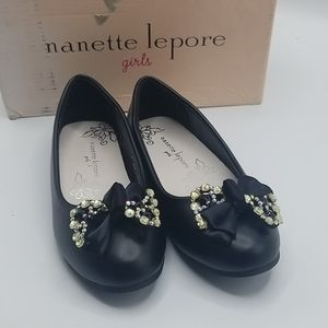 Nanette lepore little girls shoes black sz 12